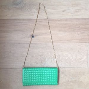 Handbags - New without tag  . Kelly green clutch or purse